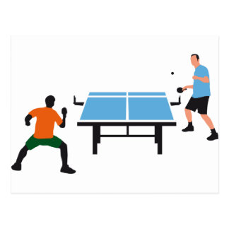 Carte Postale tennis table