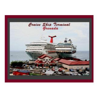 Carte Postale Terminal de bateau de croisière du Grenada