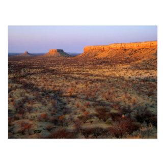 Carte Postale Terrasses d'Ugab, secteur de Khorixas, Namibie