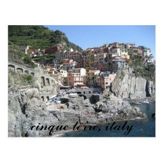 Carte Postale terre de cinque, Italie