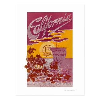 Carte Postale Terre de la Californie d'affiche de promesse