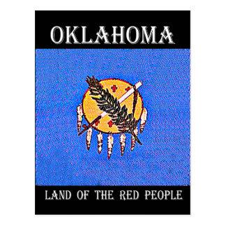 Carte Postale Terre de l'Oklahoma des personnes rouges