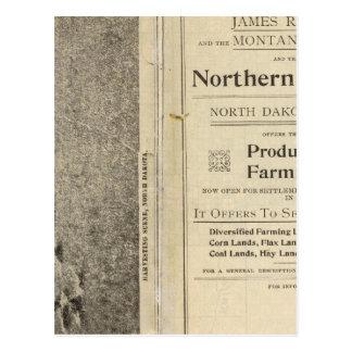 Carte Postale Terre Grant du Dakota du Nord