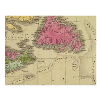 Carte Postale Terre-Neuve la Nouvelle-Écosse et le Nouveau