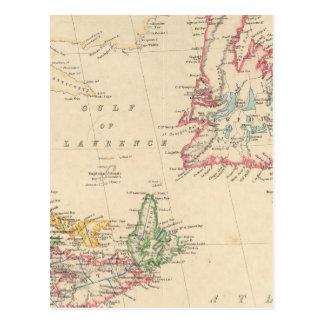 Carte Postale Terre-Neuve, Nouveau Brunswick, la Nouvelle-Écosse
