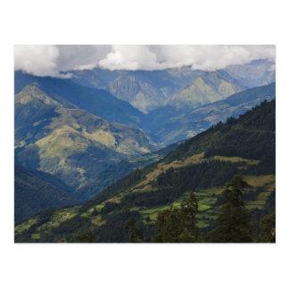 Carte Postale Terres cultivables et village en Himalaya