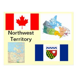 Carte Postale Territoire du nord-ouest Canada
