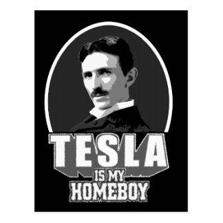 Carte Postale Tesla est mon Homeboy