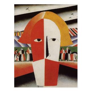 Carte Postale Tête de Kazimir Malevich- d'un paysan