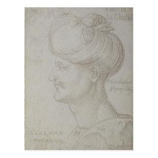 Carte Postale Tête de Suleyman le 1526 magnifique