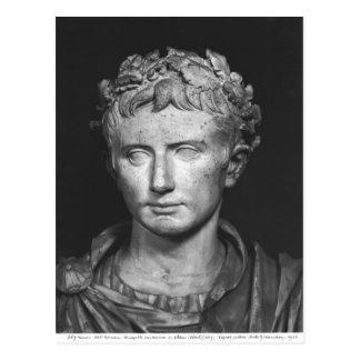 Carte Postale Tête d'empereur Augustus