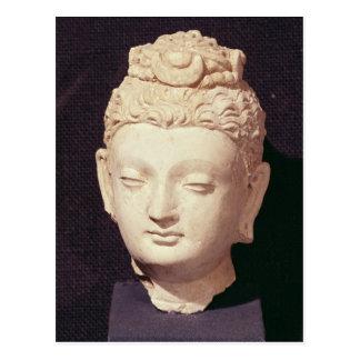Carte Postale Tête d'un Bouddha, style Greco-Bouddhiste