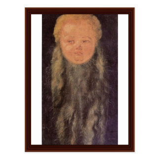Carte Postale Tête d'un enfant barbu par Albrecht Dürer
