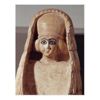 Carte Postale Tête d'une statue d'Ishtar, a de port