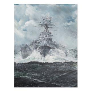 Carte Postale Têtes de capot pour Bismarck 23rdMay 1941. 2014