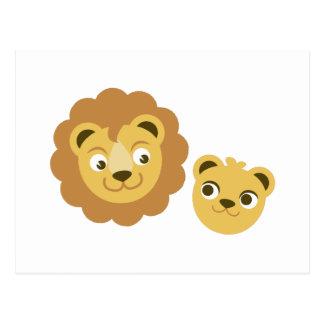 Carte Postale Têtes de lion