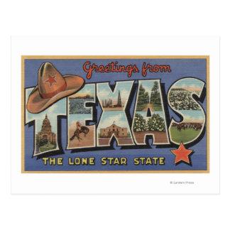 Carte Postale TexasGreetings de l'état solitaire d'étoile