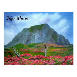 Carte Postale Texte anglais de la Corée d'île de Jeju (제주도)