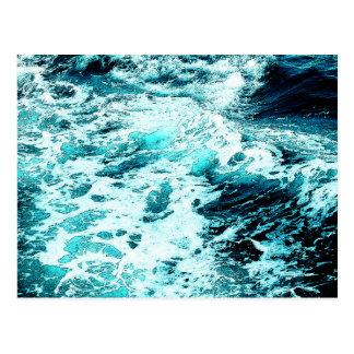 Carte Postale Texture de l'eau de mousse de mer de ressac