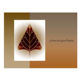 Carte Postale Thanksgiving d'affaires aux clients/aux clients