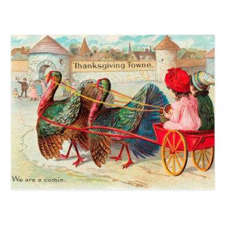 Carte Postale Thanksgiving vintage mignon
