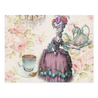 Carte Postale Thé floral français Marie Antoinette de Paris