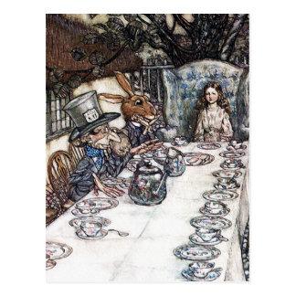 Carte postale : Thé fou de chapelier - Rackham