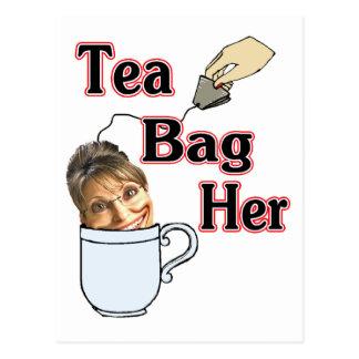 Carte Postale thé sac-elle