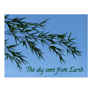 Carte Postale the sky seen from earth