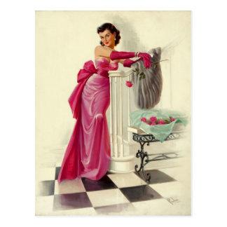 Carte Postale The tenue rose vif