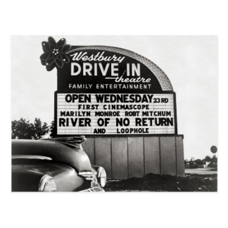 Carte Postale Theater drive-in, 1954