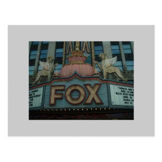 Carte Postale Théâtre de Fox, Detroit, Michigan
