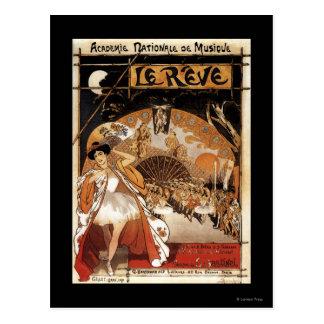 Carte Postale Théatre de l'opéra de représentation de Le Reve