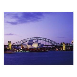 Carte Postale Théatre de l'opéra de Sydney et port, nouveau sud