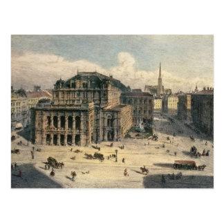 Carte Postale Théatre de l'opéra d'état de Vienne, c.1869