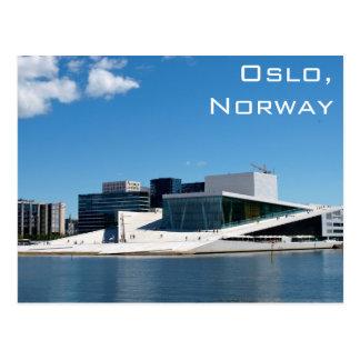 Carte Postale Théatre de l'opéra d'Oslo en Norvège un jour d'été