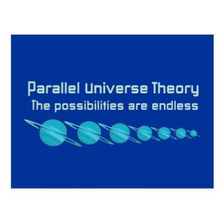 Carte Postale Théorie parallèle d'univers
