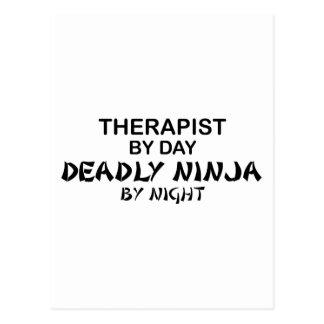 Carte Postale Thérapeute Ninja mortel par nuit