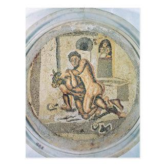 Carte Postale Theseus luttant avec le Minotaur