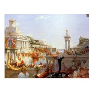 Carte Postale Thomas Cole la consommation de l'empire