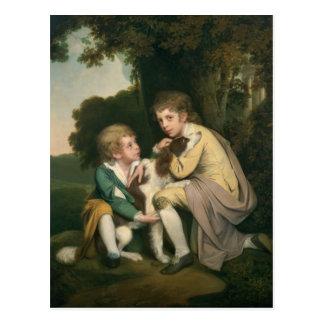 Carte Postale Thomas et Joseph Pickford comme enfants, c.1777-9