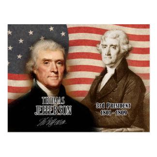 Carte Postale Thomas Jefferson - 3ème président des États-Unis