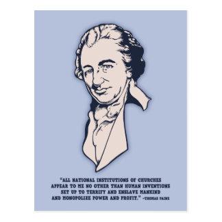 Carte Postale Thomas Paine - Méga-Églises