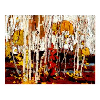Carte Postale Thomson - bouleaux d'automne
