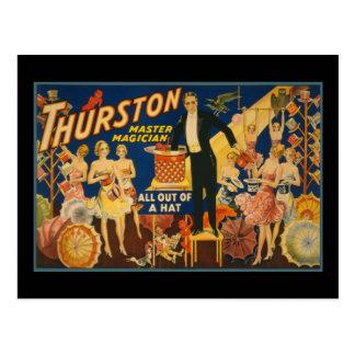 Carte Postale Thurston, magicien principal tout hors d'un
