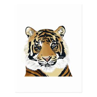 Carte Postale tiger paint