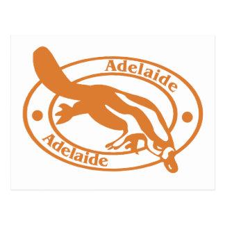 Carte Postale Timbre d'Adelaïde