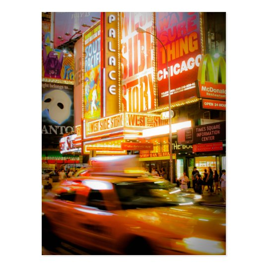 Carte Postale Time Square New York
