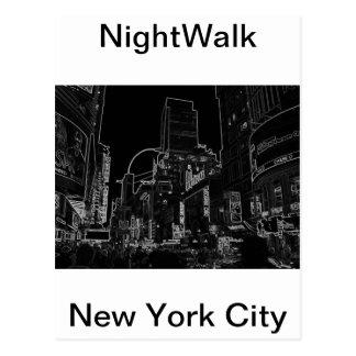 Carte Postale Times Square CricketDiane de NightWalk New York