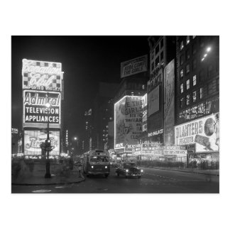 Carte Postale Times Square la nuit Night, 1953